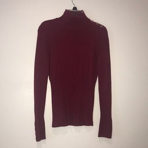 Maroon long sleeve turtle neck
